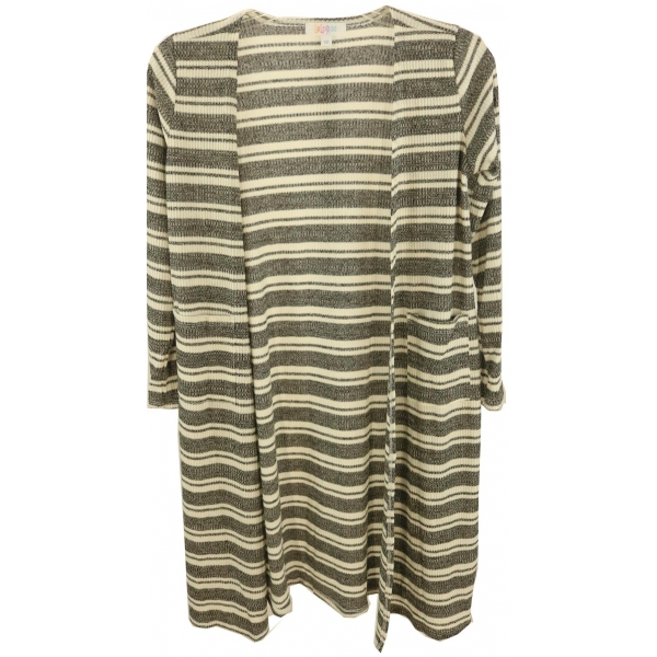 LuLaRoe Sariah (12) Gray and white stripes