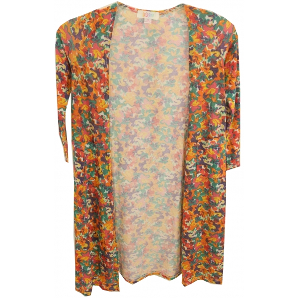 LuLaRoe Sariah (8) Multicolored Flowers
