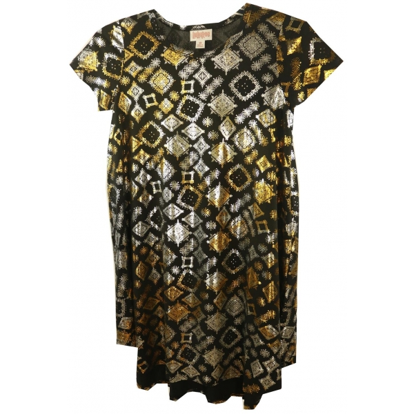 LuLaRoe Scarlett (10) Brown silver and gold