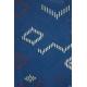 LuLaRoe Scarlett (8) Blue with patterns