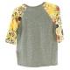 LuLaRoe Sloan (2) Gray Body, yellow sleeves