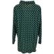 LuLaRoe Valentina (2XL) Dots on Green